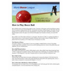 FREE How to Play Bocce Ball Instruction Sheet